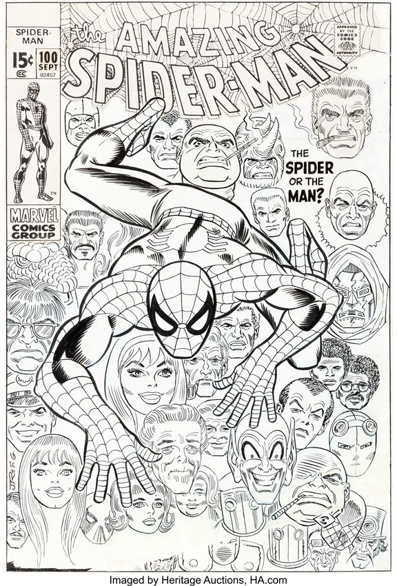 COMICS AMAZING SPIDER MAN 100 Cover Has Sold For A Record Price At