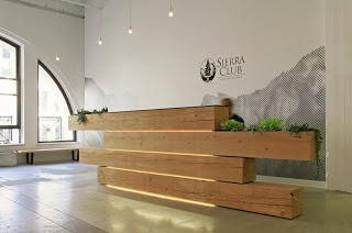 The design is by Houston architects Logan Johnson for an environmental association, The Sierra Club,