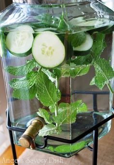 Cucumber water has a long list of benefits. See the article of 10 top benefits and try these cucumber water recipes.