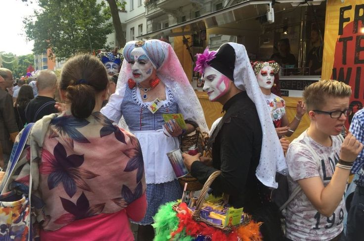 Image caption                                      Drag queens wear striking costumes in Berlin's gay street festival                               Gay Pride Berlin is a riot of glitter, glam and rainbow flags. This weekend people will celebrate Germany's new law... - #Adoption, #Angst, #Gay, #Germans, #Joy, #Mixed, #World_News