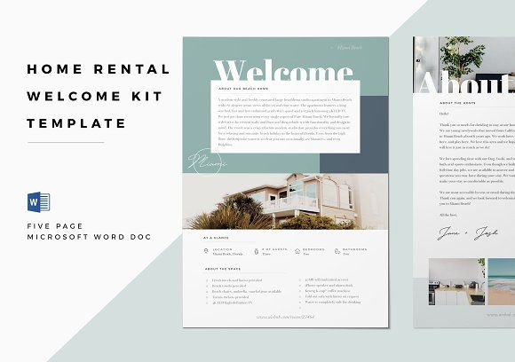 Home Rental Kit Template \u2013 Airbnb template, Vrbo, HomeAway Give