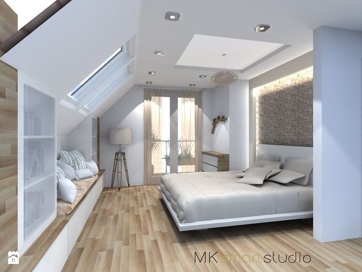 Sypialnia w stylu skandynawskim - Sypialnia, styl skandynawski - zdjęcie od MKsmartstudio