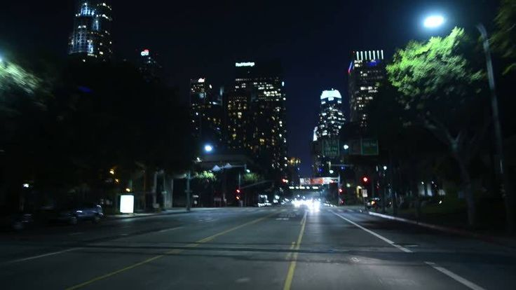 Driving POV LA Downtown 09 Night USA Stock Footage Video 4993739 - Shutterstock