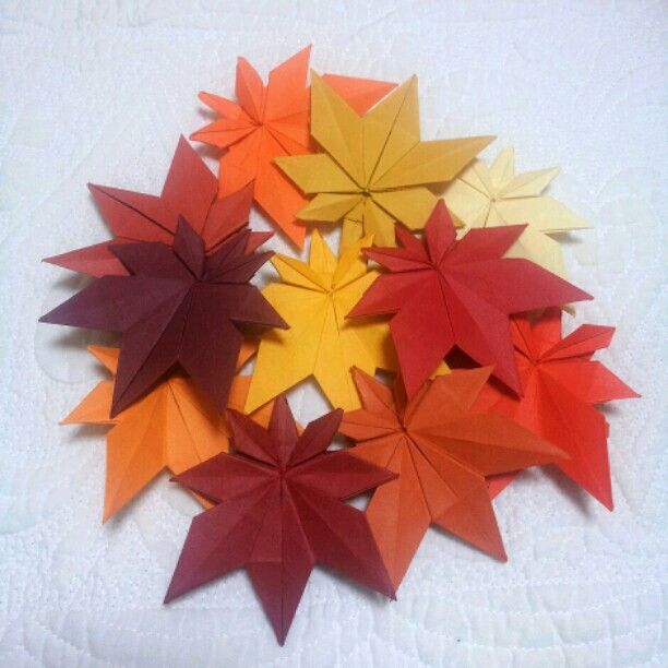 origami maple leaves origami pinterest origami