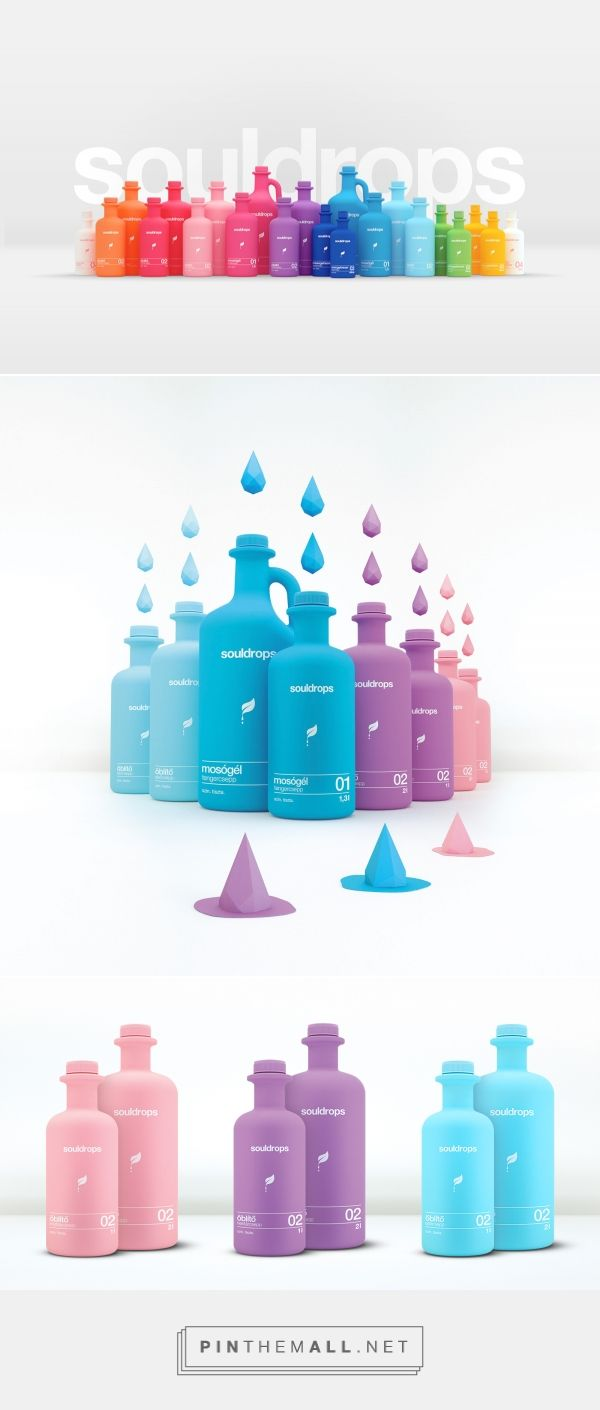 Colorful Souldrops detergent packaging design by Republic Group - http://www.packagingoftheworld.com/2017/04/souldrops.html