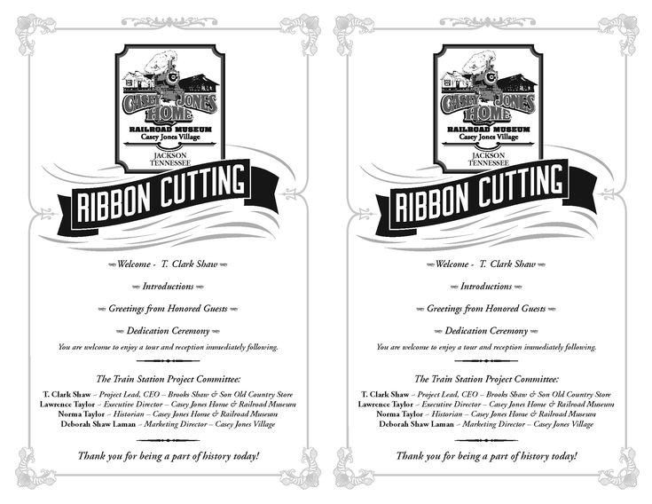 Ribbon Cutting Ceremony Program Template Program For The