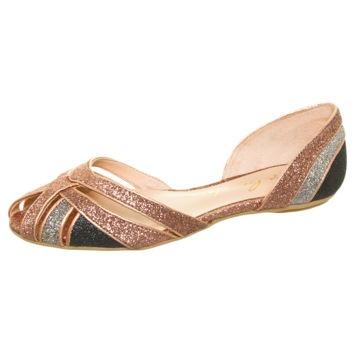 Sapatilha Tiras Glitter Bronze