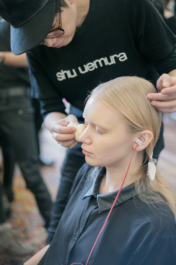 Kakuyasu Uchiide supports TEX SAVERIO F/W 2014-15 Collection  #shuuemura #parisfashionweek #beauty #makeup #texsaverio #2014AW #cosmetics