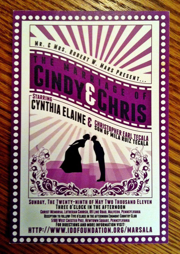 movie ticket stub wedding invitation%0A wedding invites ticket stubs   Movie Themed Wedding Invitations