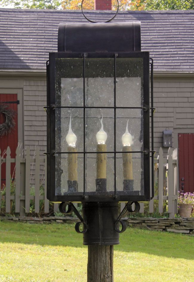 25 best ideas about primitive lighting on pinterest for Colonial exterior lighting