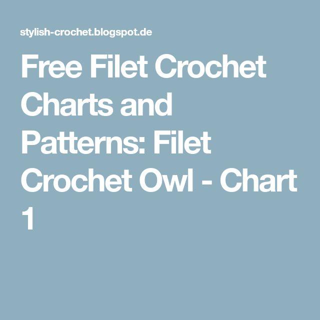Free Filet Crochet Charts and Patterns: Filet Crochet Owl - Chart 1