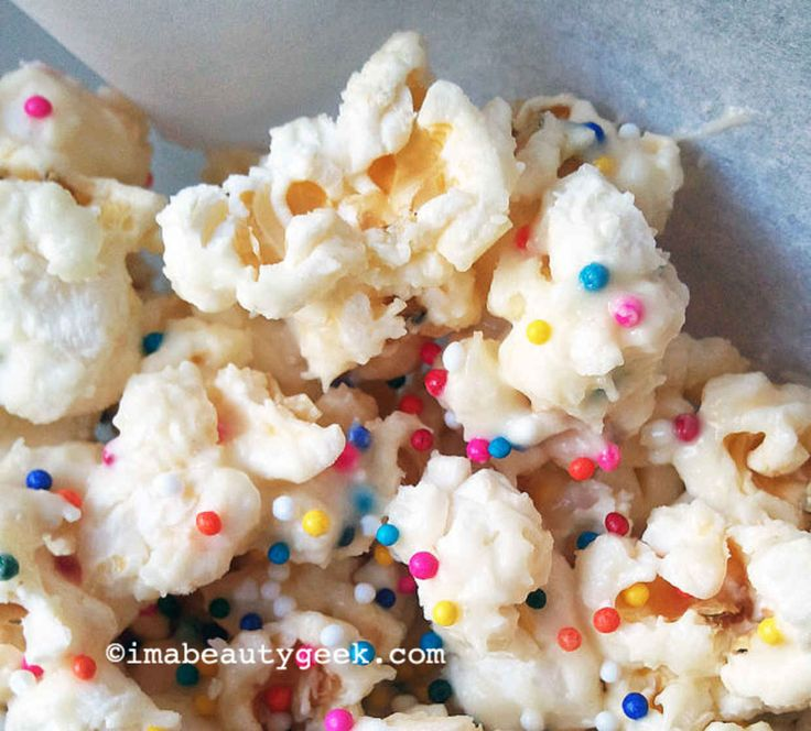 Birthday-cake popcorn! My young niece made this!