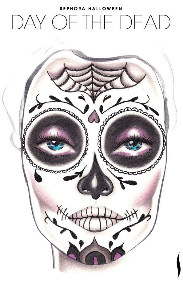 Day of the Dead makeup by Sephora