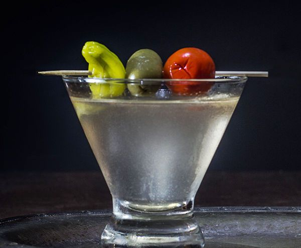 Hot, sweet, cold, and tangy flavors combine in this spicy Ragin' Cajun Martini that's certain to define your party. We garnish with zesty jalapeño stuffed olives.