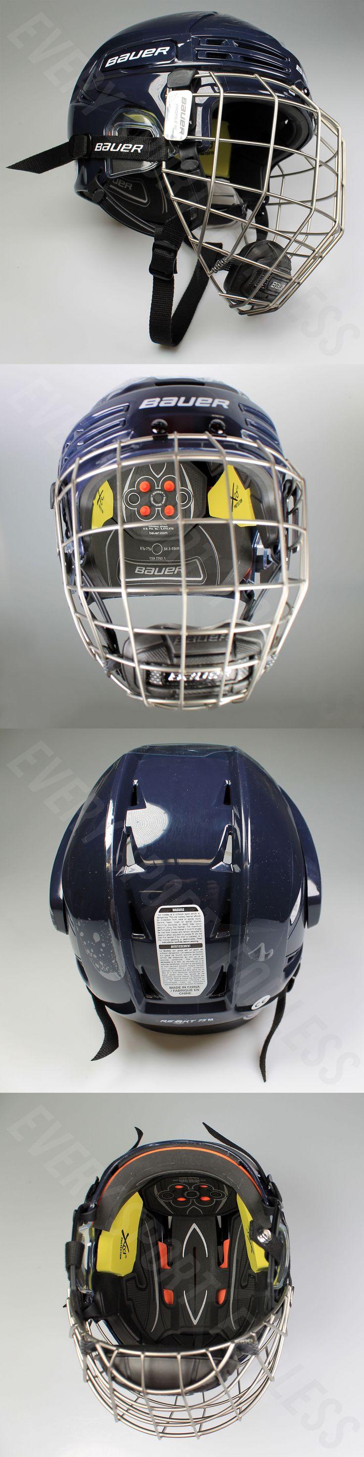 Helmets 20854: Bauer Re-Akt 75 Combo Senior Hockey Helmet W Cage - Navy Blue (New) -> BUY IT NOW ONLY: $159.99 on eBay!