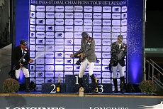 Lausanne 2014 Gallery - LONGINES GLOBAL CHAMPIONS TOUR - Champagne Shower