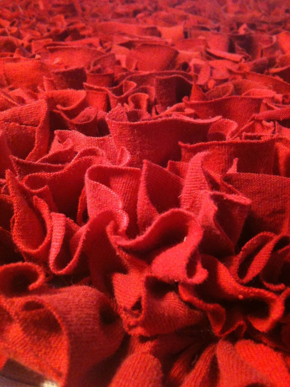 red t-shirt rug