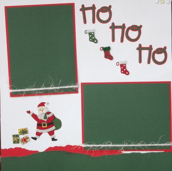 Christmas Santa Scrapbook Layout Page  Holiday by jenbustillo, $4.99