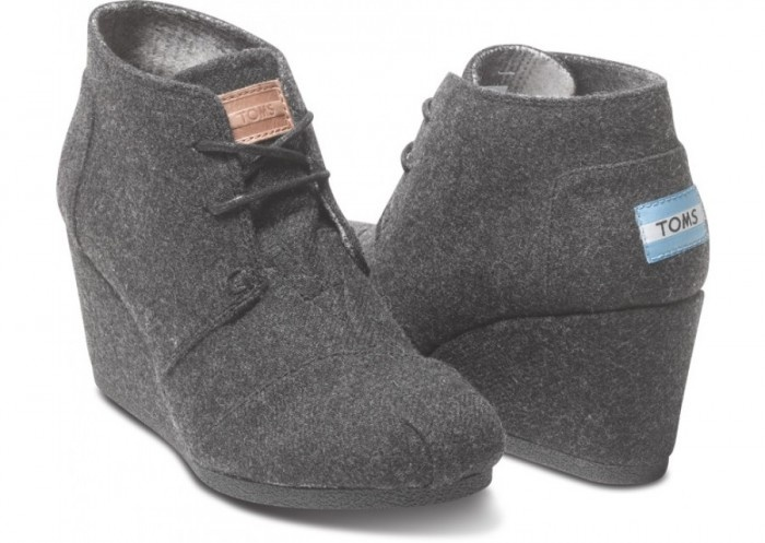 wool wedges by Toms...love these too