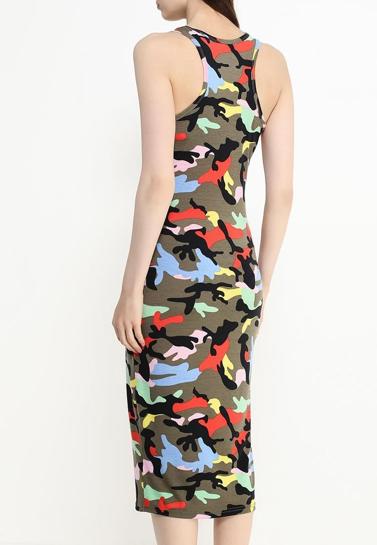 Повседневное платье-майка с расцветкой в стиле #камуфляж. Цвет — мультиколор. Недорогое http://fas.st/pJuAi