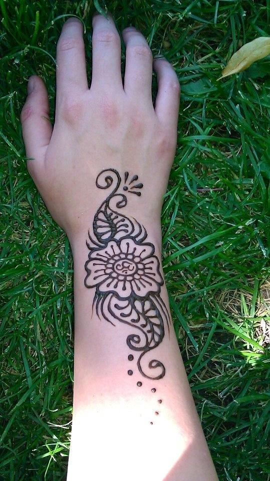 Henna Tattoo Inside Arm: Henna Tattoos (on Hannah's Arm)