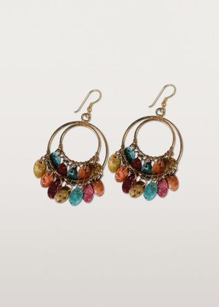 Ten Thousand Villages - Colorful Shell Hoop Earrings