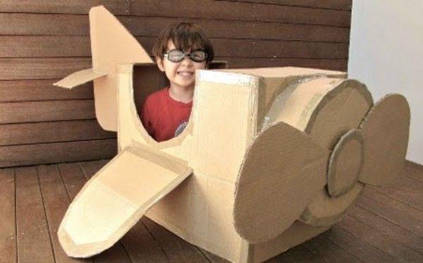 caja de cartón para mi hijo