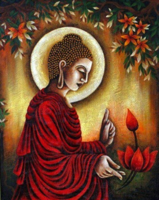 1194 best buddhist inspired life images on pinterest for Buddha mural paintings