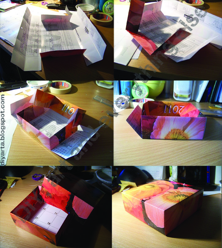 recycling calendar- box