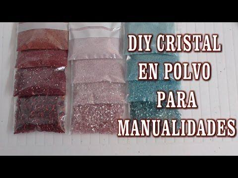 DIY COMO HACER CRISTAL EN POLVO PARA MANUALIDADES - YouTube