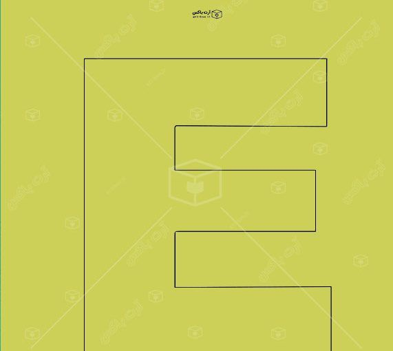 الگوی ساخت جعبه به شکل حرف E Box Art Art