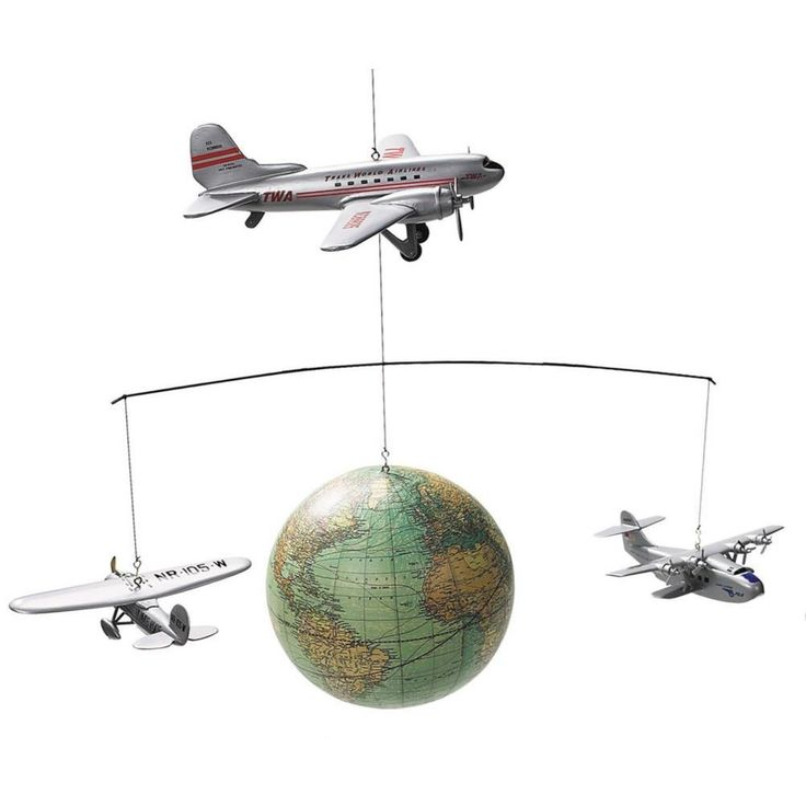 Adventure is calling with this vintage inspired globe with airplane detailing…