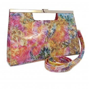 NEW! The Peter Kaiser Wye Clutch Bag in Multi Coloured Patent, perfect for summer parties on www.mozimo.co.uk