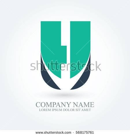 initial letter h creative circle logo typography design for brand and company identity. green and dark blue color