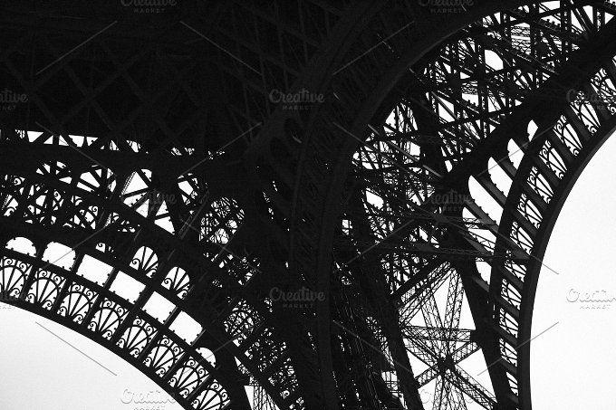 Eiffel Tower Detail by Neo Ink Design on @creativemarket