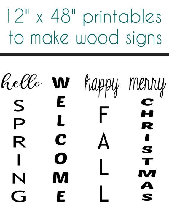 24 Printable sayings to make your own wood signs DIGITAL DOWNLOAD