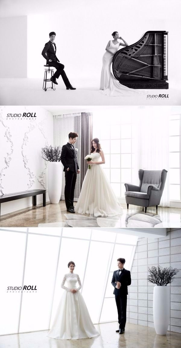 Minimalistic and Classy Style Korean Studio Pre-wedding Photoshoot For The Couples Who Love Simplicity - Studio Roll, Simple, Classy, Indoor