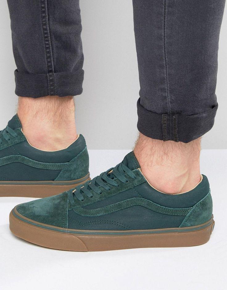 Image 1 ofVans Old Skool Gum Trainers In Green VA2XS6JYE