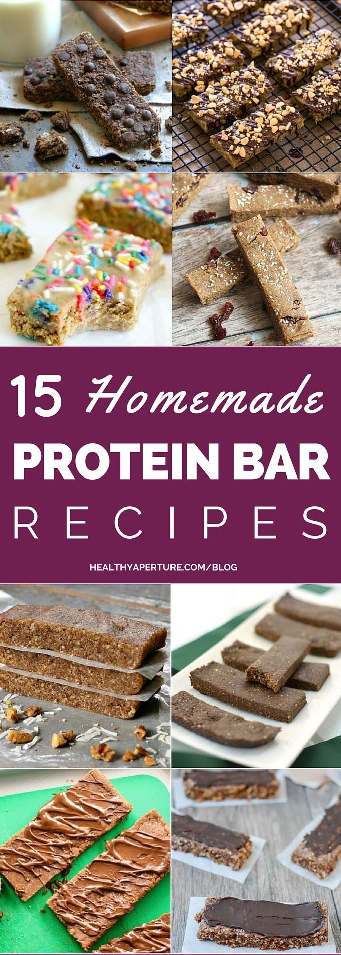 Skip the store-bought versions and make your own Healthy Homemade Protein Bars with these 15 easy recipes!