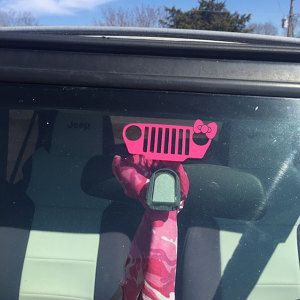 AA wonderful customer sharing my girly jeep grill decal in its new home