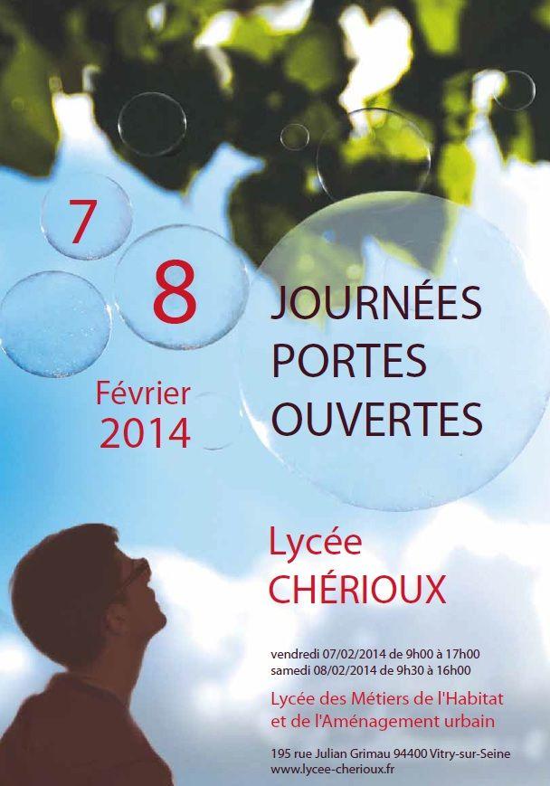 Affiche des journées portes ouvertes 2014 du Lycée Chérioux à Vitry-sur-Seine
