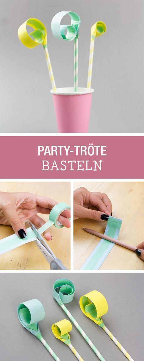 Bereit für die nächste Party: Party-Tröten selbermachen / craft your party decoration and essentials via DaWanda.com