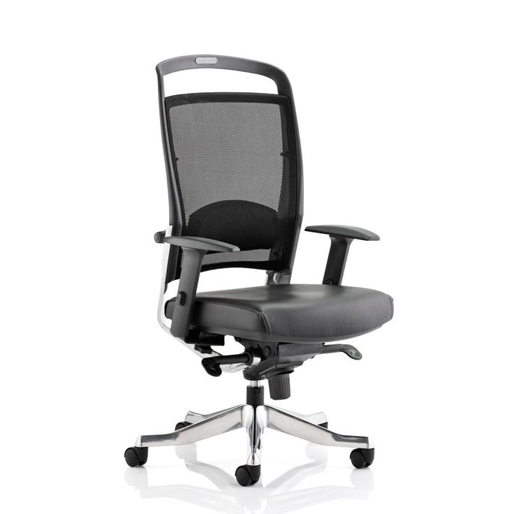 Faulkner Mesh Office Chair - High Back | A sleek, modern office chair packed with ergonomic adjustments for reliable comfort while you work. Features include a height & depth adjustable lumbar support, knee tilt synchro mechanism, a weight tension control handle and height adjustable armrests. Plus, you can add a nifty height adjustable headrest, too!!