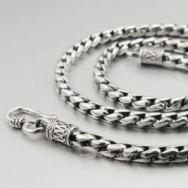 Mens Solid 925 Sterling Silver Necklace - Shop With Bitcoin