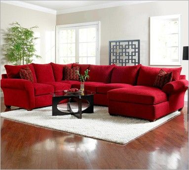I want a huge sectional like this. A huge house to go with it would be nice, too.