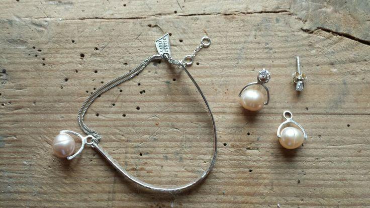 #SZMER-craft #jewellery #pearls #silver #bracelet #earrings