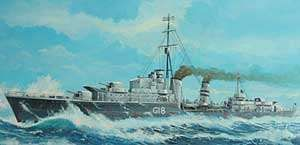HMS Zulu (G18). Builder: Alexander Stephen and Sons. Laid down: 10 August 1936. Launched: 23 September 1937. Commissioned: 7 September 1938. Fate: Lost to Italian aircraft off Tobruk, 14 September 1942. Class and type: Tribal-class destroyer. Displacement: 2,520 tons. Length: 377 ft (115 m). Beam: 36.5 ft (11.1 m). Draught: 9 ft (2.7 m). Speed: 36 knots (67 km/h).