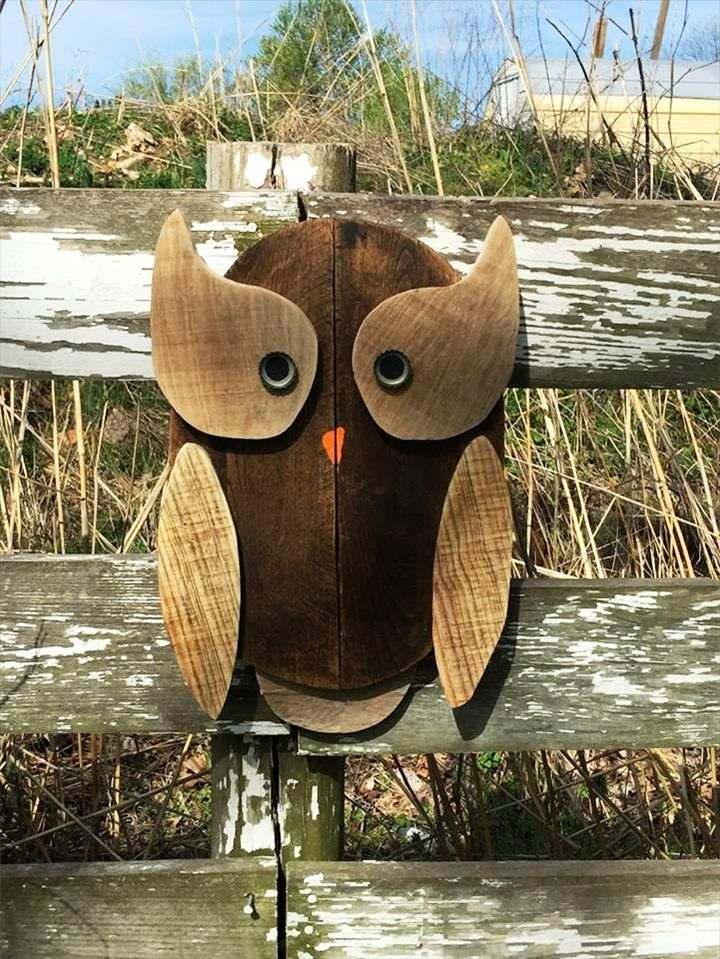 Pallet Owls Art - DIY                                                       …