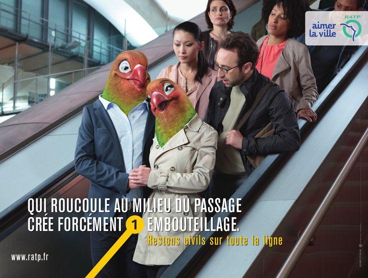 campagne affichage RATP contre l'incivilité dans les transports en commun…