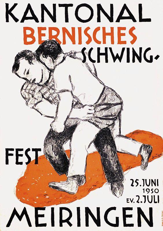 Kantonal Bernisches Schwingfest   Arnold Brügger   1950